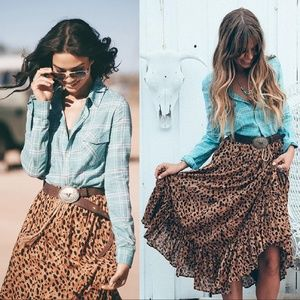 Spell designs lennox flannelette blouse XS flannel